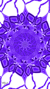Purple fractal design by Rache'l